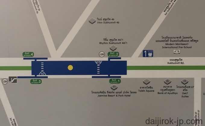 BTSプラカノン駅周辺地図