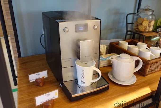 コーヒーマシーンの写真
