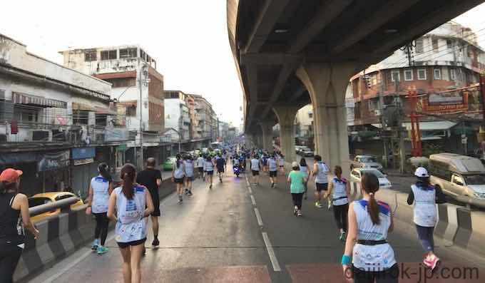 バンコクマラソン終盤