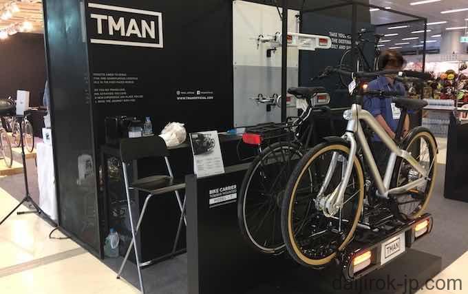 自転車用荷台を販売する写真