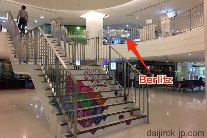 ベルリッツはEdutainmentゾーンの2階