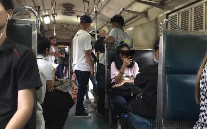 タイ国鉄車内
