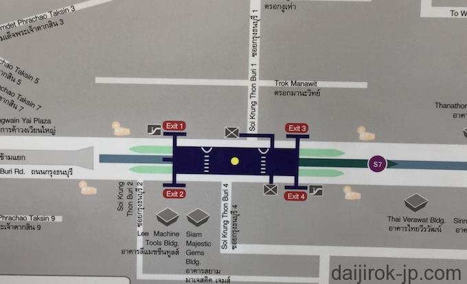 ウォンウェンヤイ駅地図